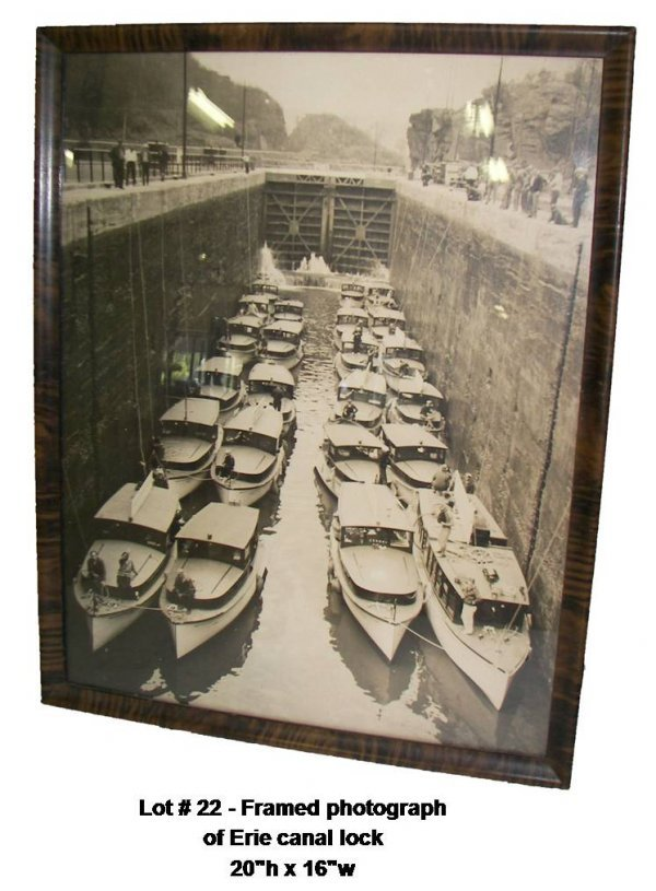 22: Framed photograph of Erie canal lock