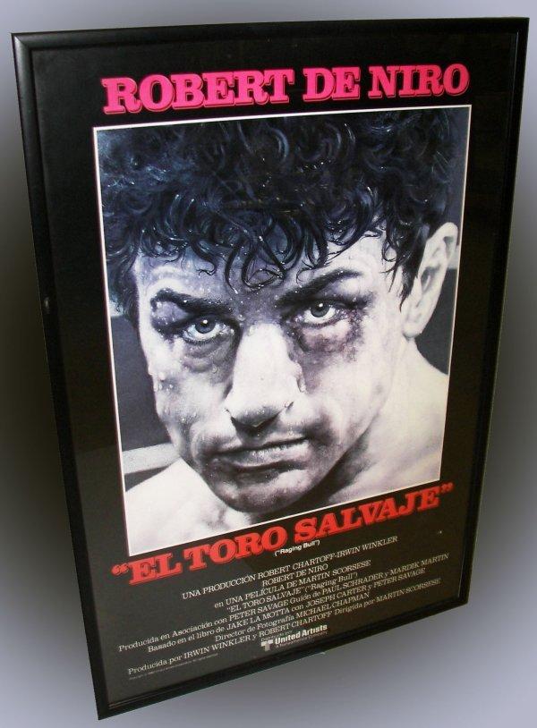 """13: Robert De Niro poster from """"El Toro Salvaje"""""""