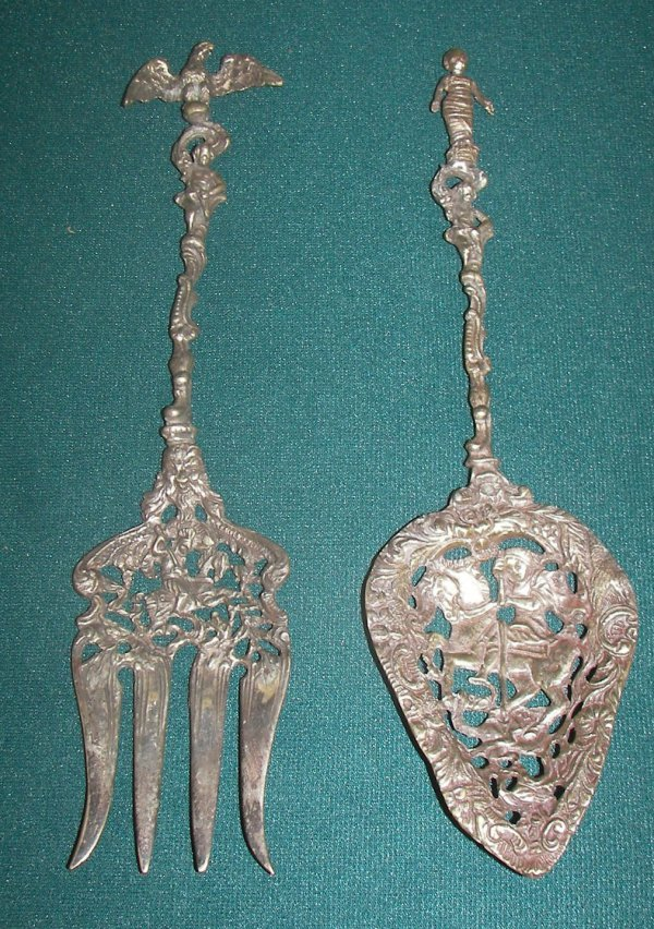 21: Pr. late 19th C. Italian figural serving pieces