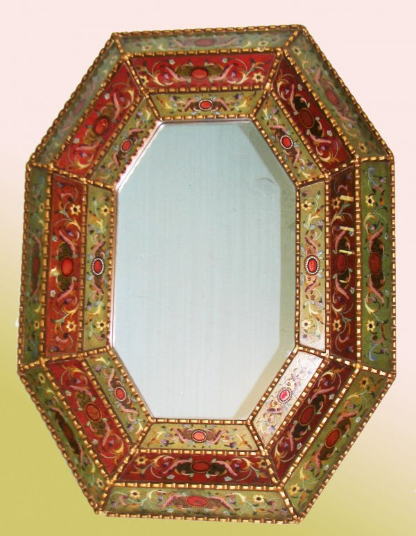 26: Venetian reverse paint decorated mirror