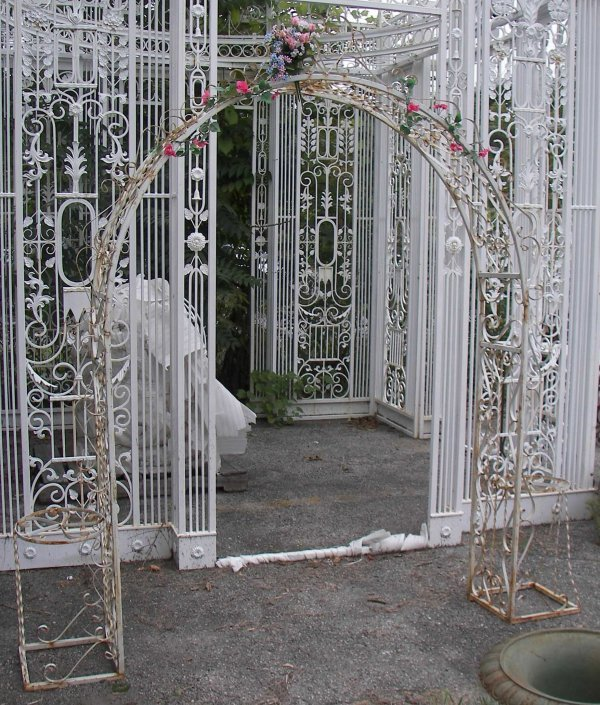 16: Wrought iron trellis