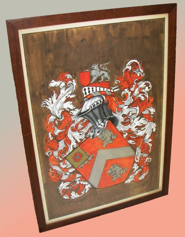 29: Framed Family crest