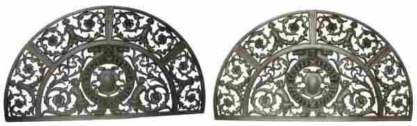 452: Pr. RJ Horner figural carved walnut panels