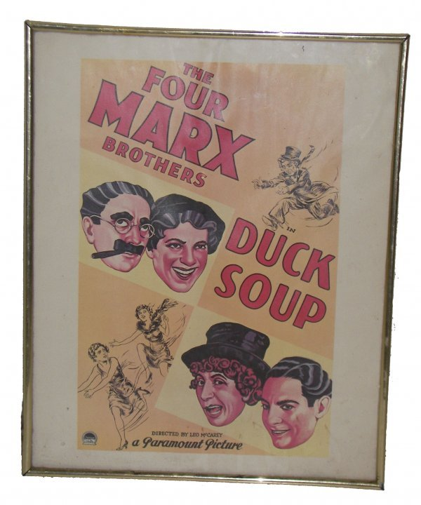 "1097: Movie poster Marx Bros. ""Duck Soup"""