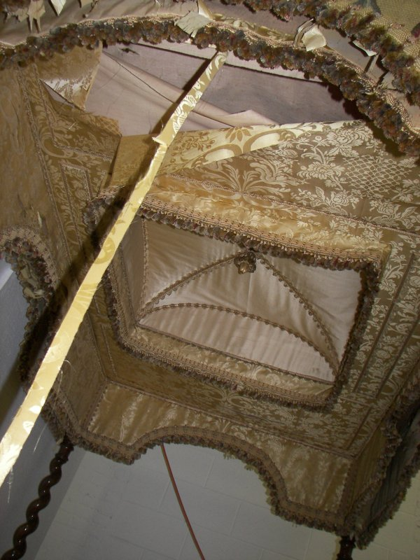 2: Ea. 19th C. Rosewood & Burled Gothic canopy bed - 2