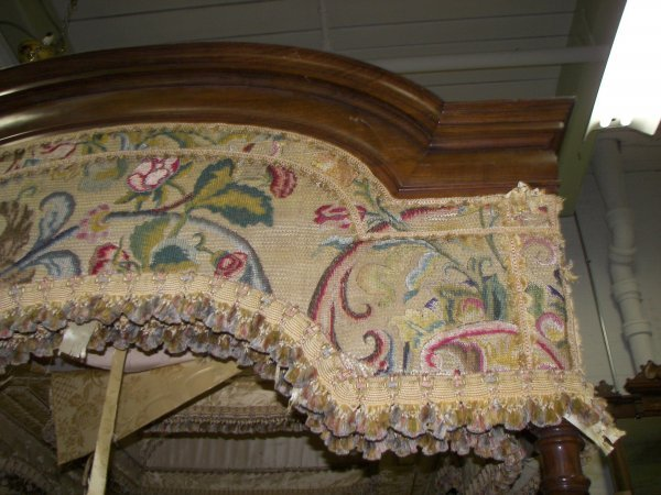 2: Ea. 19th C. Rosewood & Burled Gothic canopy bed - 3