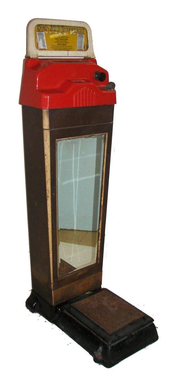 15: Vintage art deco penny scale