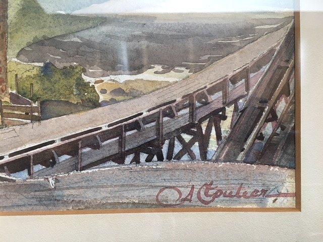 Albert Cloutier (Canadian) 1931 Watercolor KLINKOFF TAG - 3