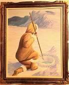James B Garner  Inuit Hunter  Oil on Canvas