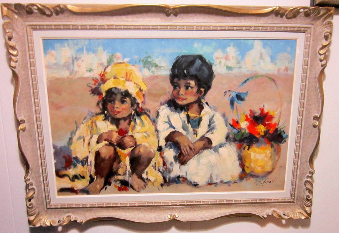 M. Dupont - Rare Oil - Children with Flowers