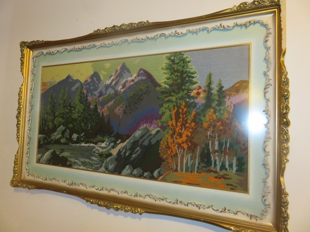 Large Needlepoint Picture - Beautiful frame