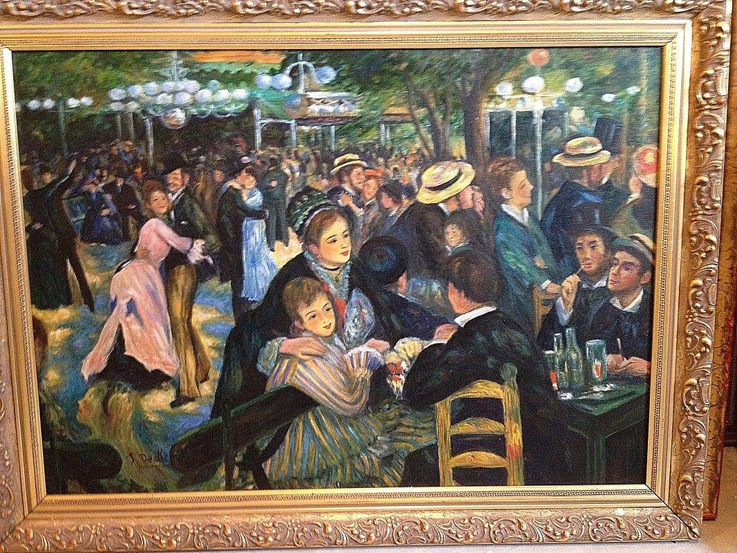 Oil Reproduction (Renoir) - At the Moulin De La Gal