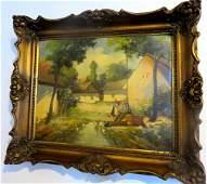 Lajtay Sandor - Old Hungarian Artist - Oil Painting