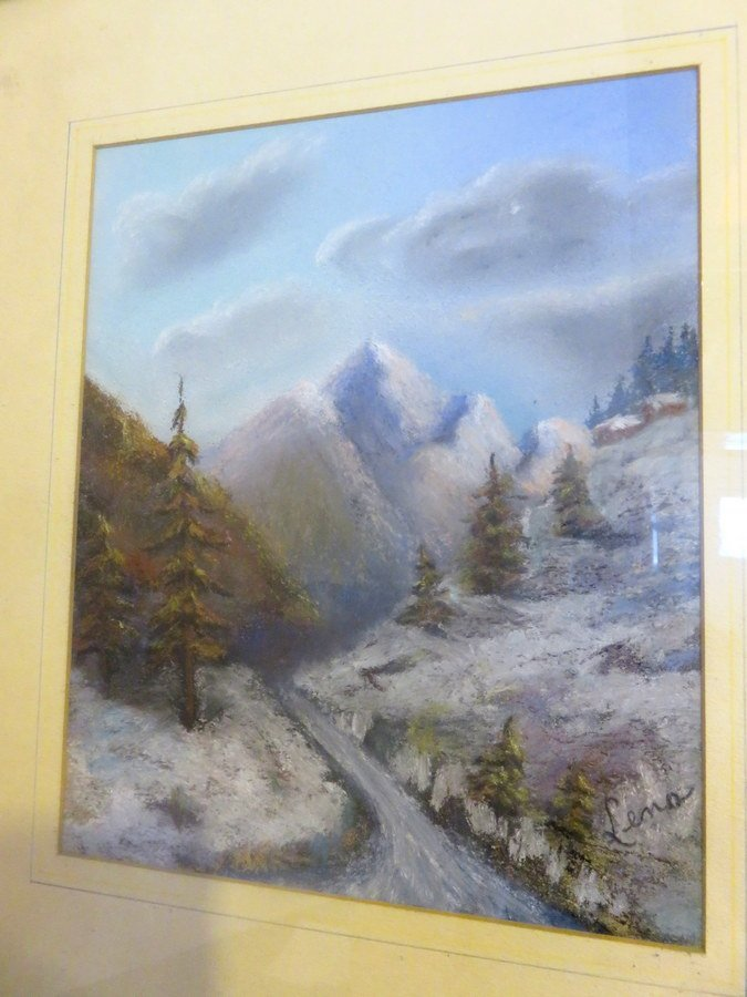 Original Winterscape Watercolor (Unknown Artist)