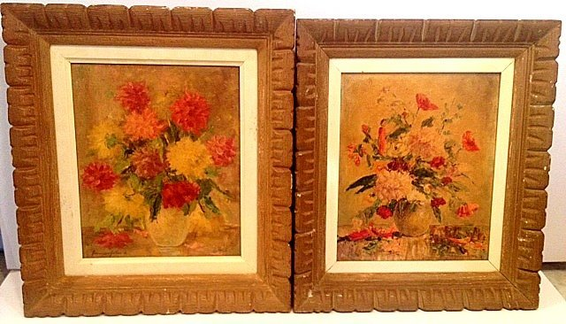 2 X Old Impressionist Still Lifes (Illegible)