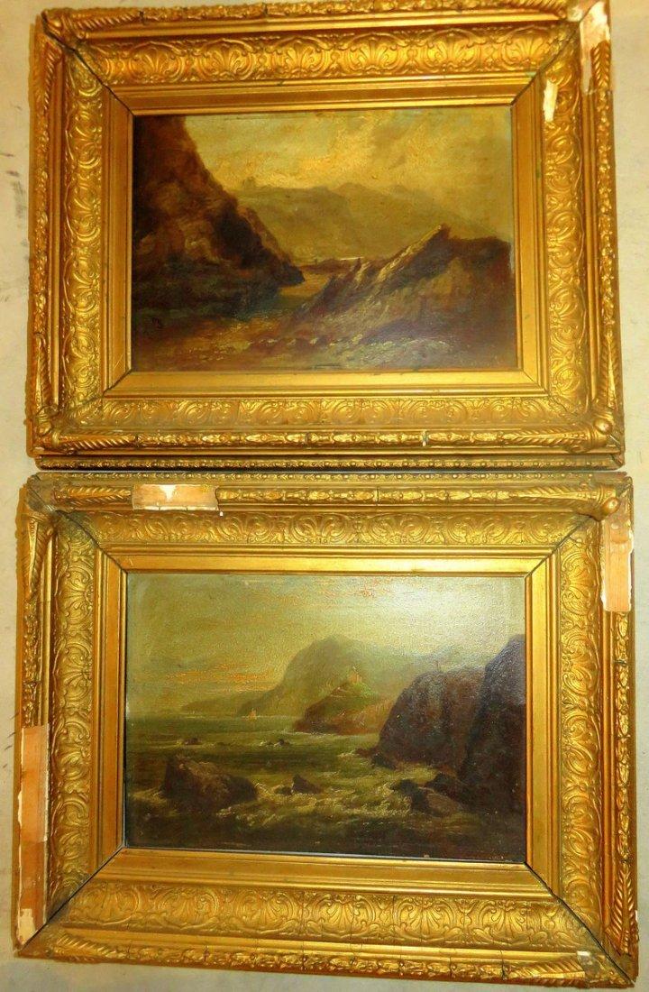 TWO (2X) Patrick Branwell Bronte (1817-1848) RARE SLATE