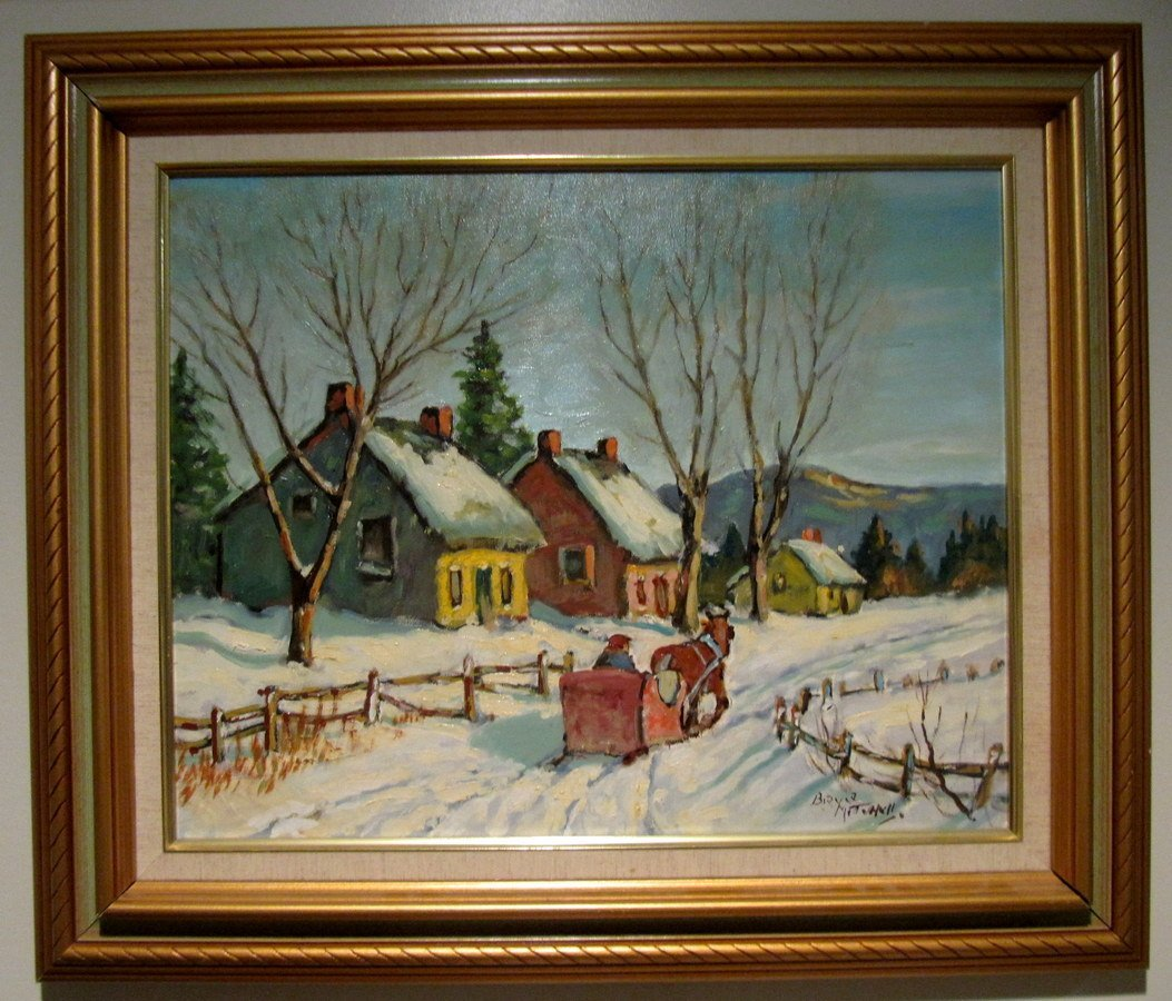 Bruce Mitchell (1912-1995 Canadian) Winter Sleigh Ride