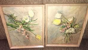 TWO - H. Archer Pfaff - Watercolor Still Life's