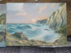 2 X Mario Illusi (Millus) 1925-1992 Pair of Paintings