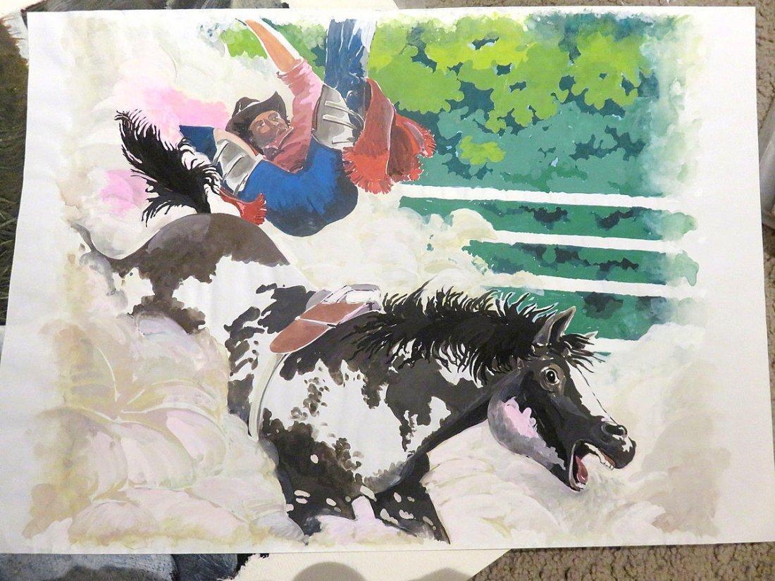 5X W. Bailey - Animal Oil Paintings (Unframed)