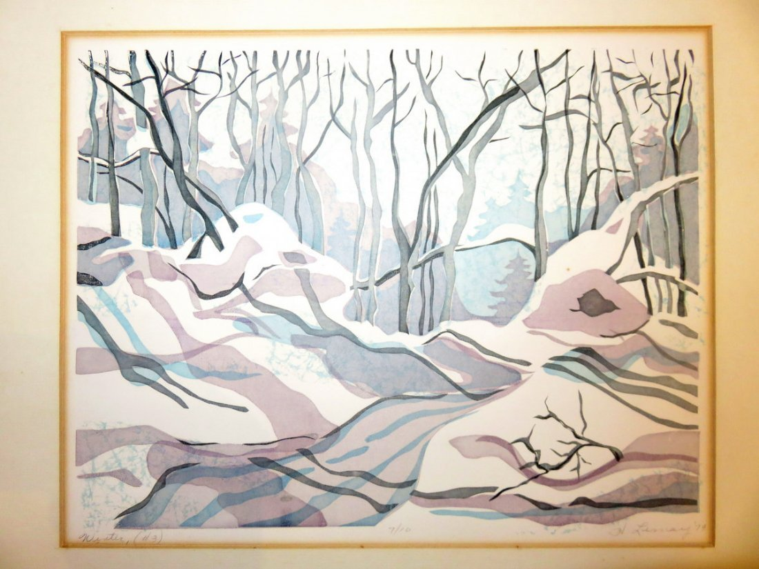 Original Helene Lemay - 7/10 Winter Serigraph 1973