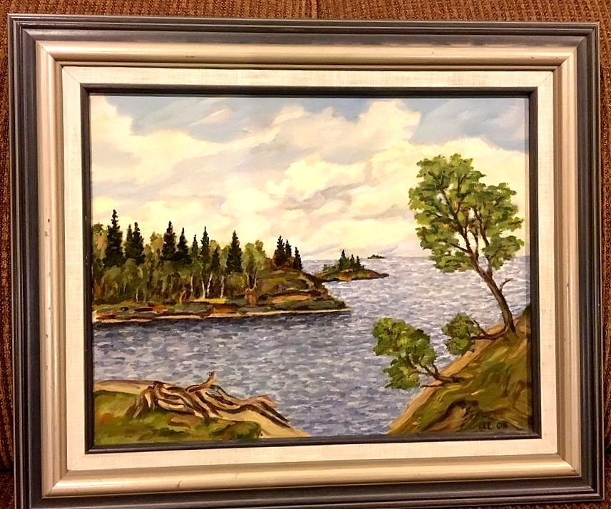 Canadian School - Unknown Monogrammed Oil Painting