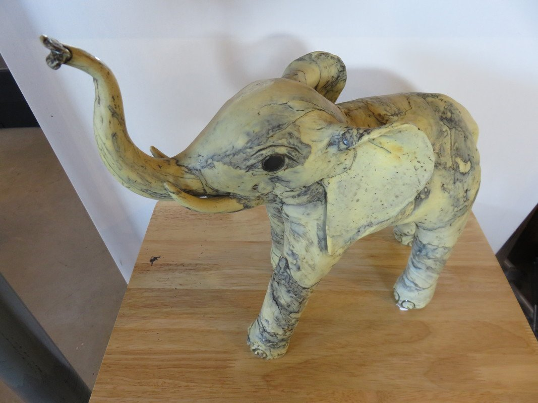 Elephant Sculpture - Hand Made - Unknown