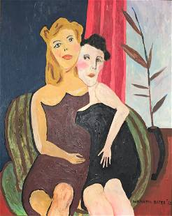 Maxwell Bennet Bates (1906-1980) Ladies in Chair 1973