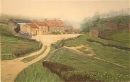 Armand (AJ) Paquette (1930-Canadian) Farm Yard