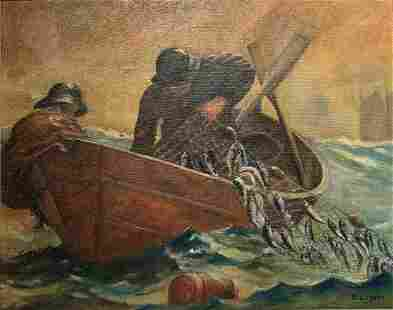 Fisherman bringing in the Nets - Unknown Artist