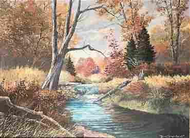 Don Ningewance (1948-) River Stream