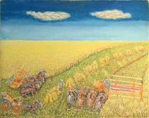 Jan Garret Wyers (1888-1973) Working the Fields 1968