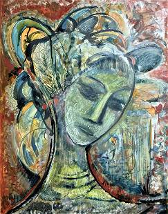 Canadian School - Abstract Portrait - Unsigned