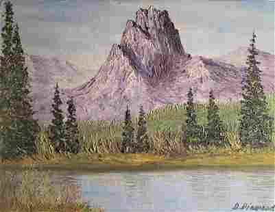 Canadian School Painting - Mountain Scene