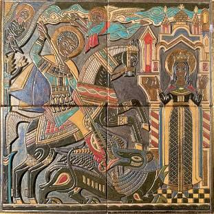 Valentin Firsov Shabeaff (1891-1978) St George & Dragon