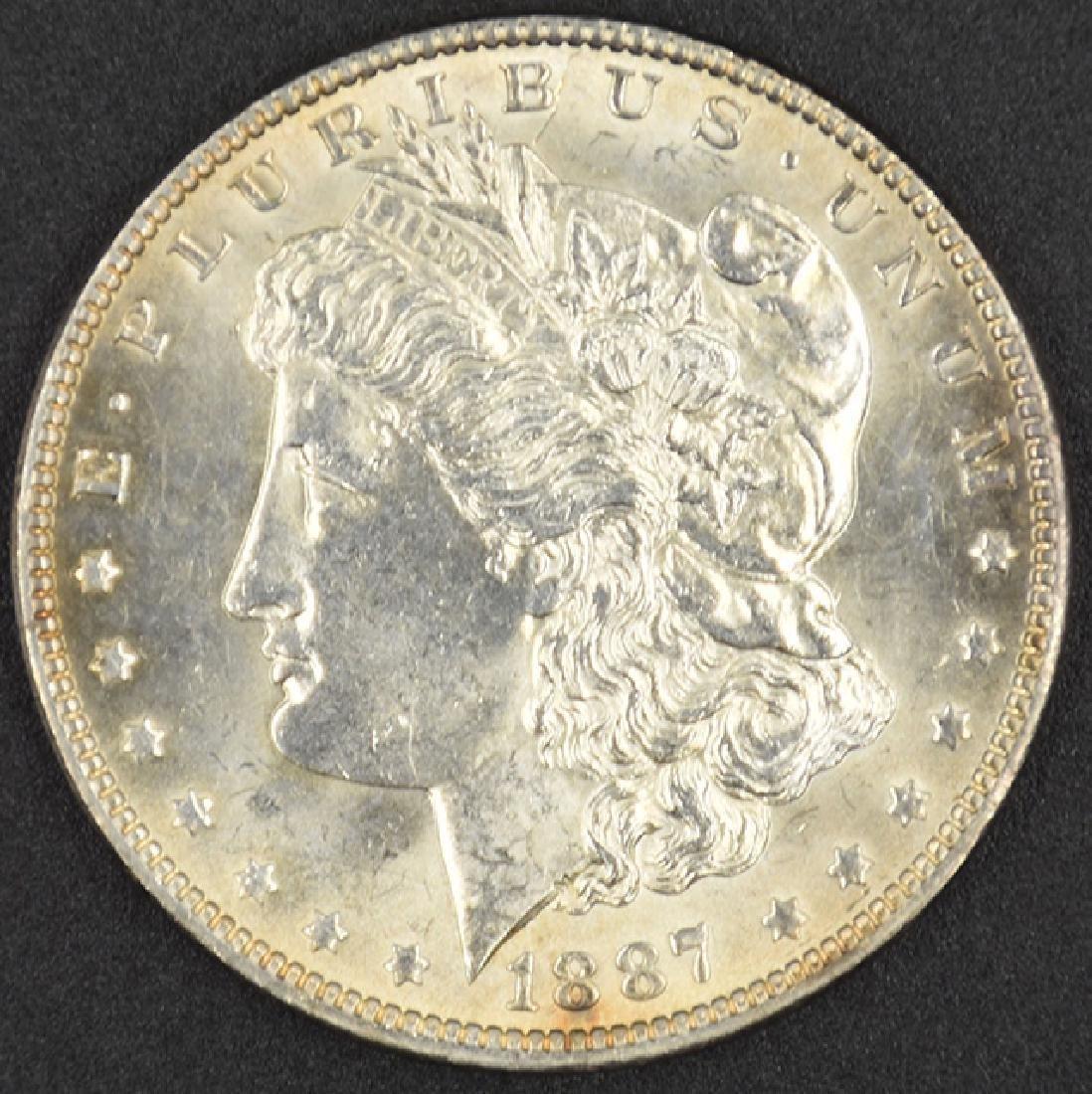 1887-P Morgan Silver Dollar Coin