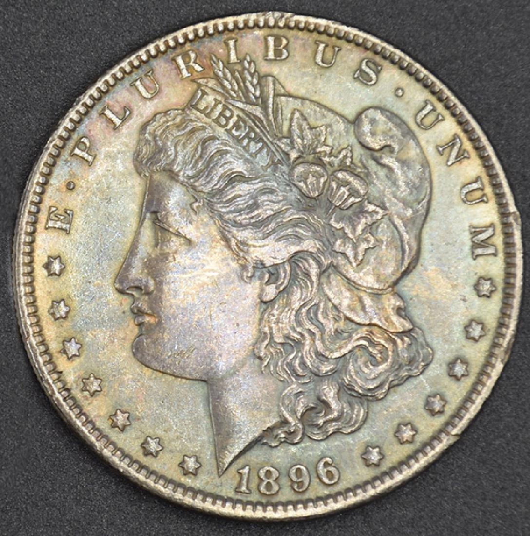 1896- P Toned Morgan Silver Dollar Coin