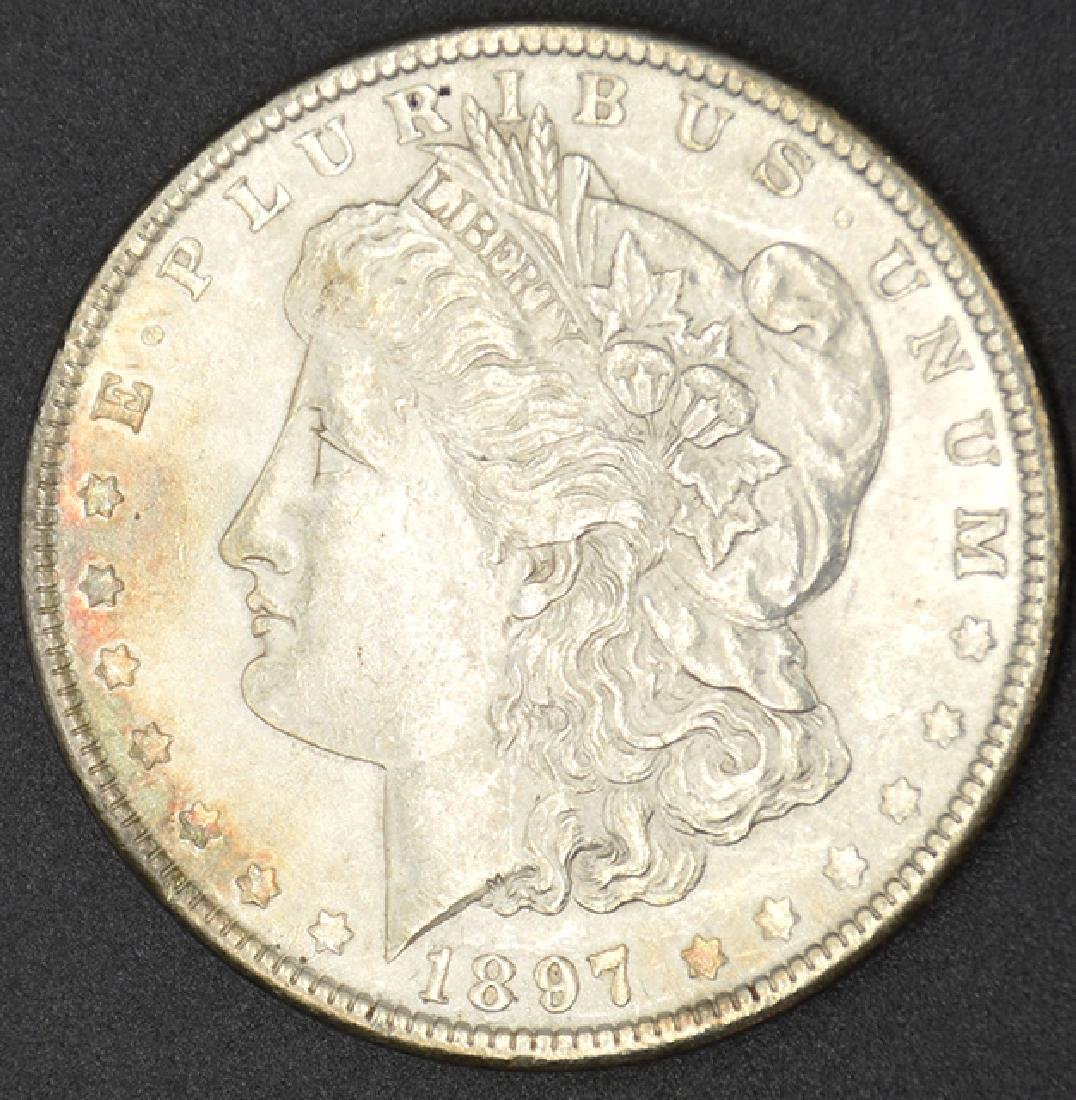 1897- P Morgan Silver Dollar Coin