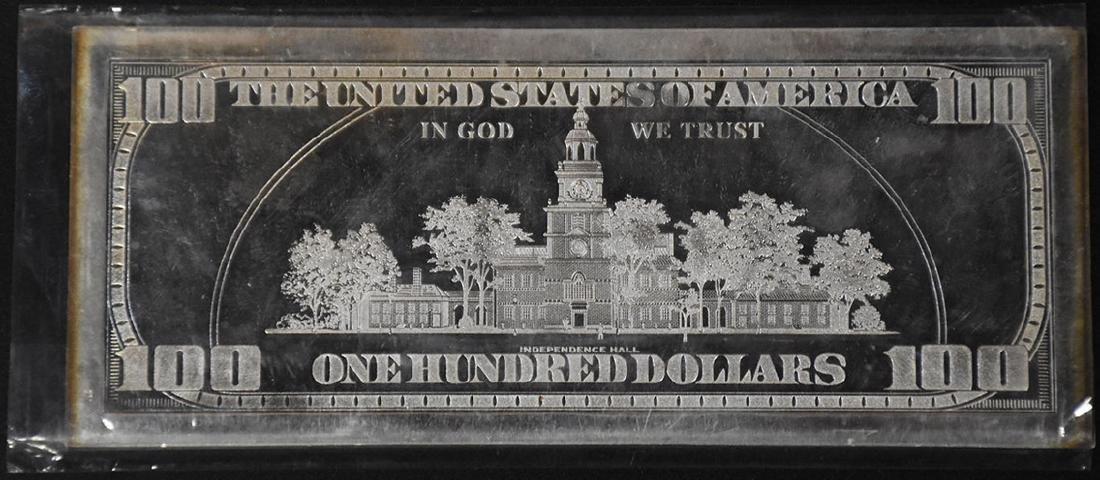 2000 4 oz. .999 Fine Silver $100 bar - 2