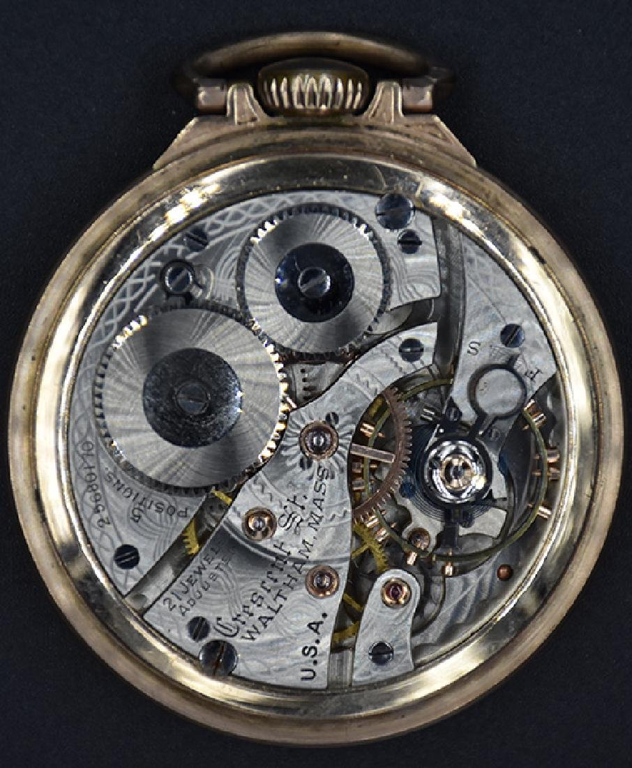 Waltham 21 J. Crescent St. 1908 Pocket Watch - 3