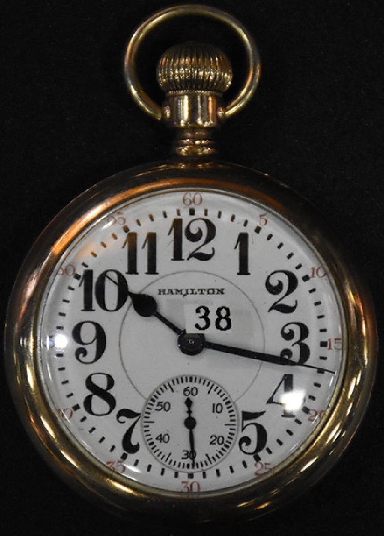 Hamilton Watch Co. 992 M2 21J Pocket Watch