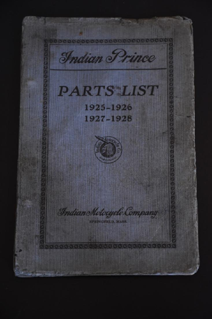 indian prince parts list 1925-1928