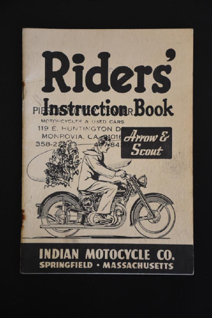 riders instruction book Arrow and Scout Indian