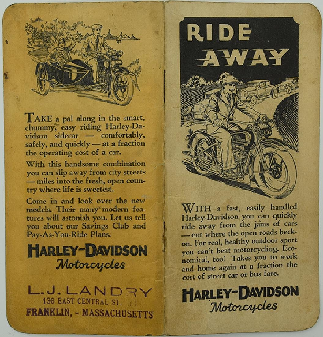1929 and 1930 Harley Davidson Calendar
