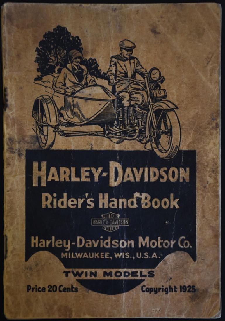 1925 Harley Davidson Handbook
