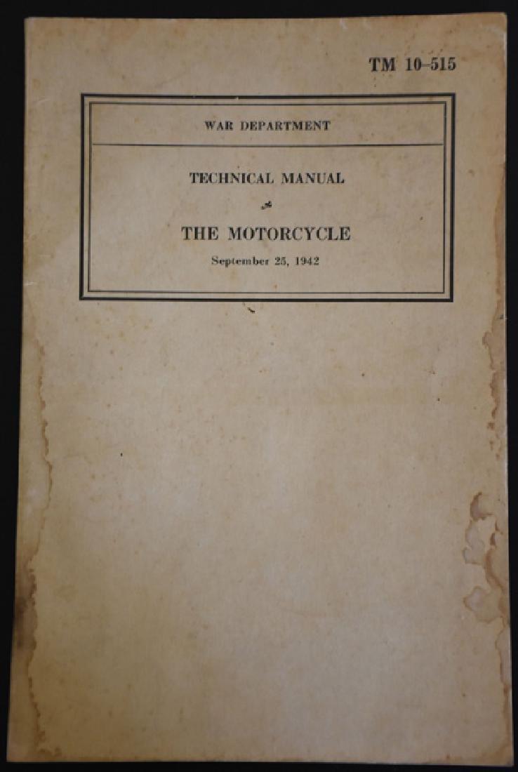 1942 Harley Davidson War Manual