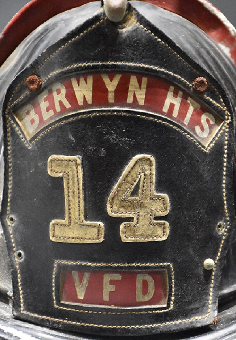 Antique Cairns Aluminum Berwyn 14 VFD Firemans helmet - 2