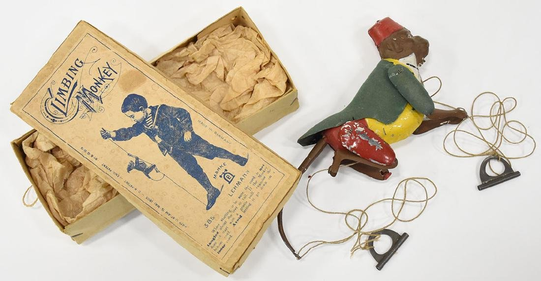 Lehmann climbing monkey toy in original box