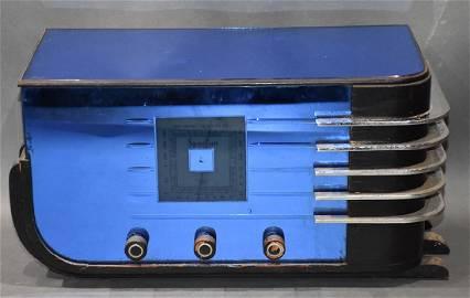 "Spartan 557 ""sled†blue mirrored radio"