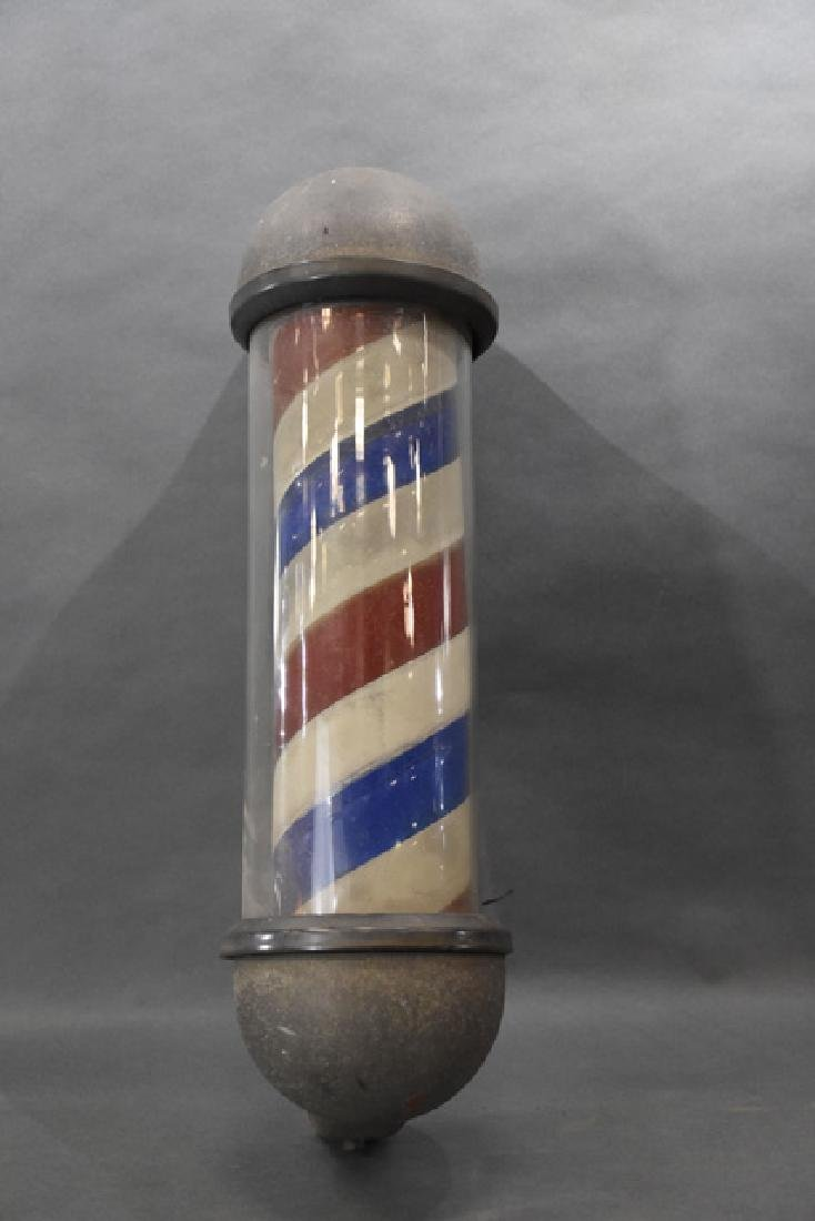 "antique barber pole 24"" tall"